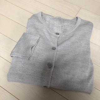 ジーユー(GU)のグレー カーディガン 羽織り(カーディガン)