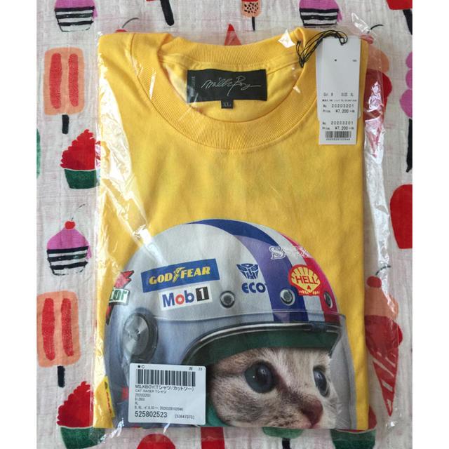 MILKBOY(ミルクボーイ)のMILK BOY 猫様が可愛いです(人´_`)♡ メンズのトップス(Tシャツ/カットソー(半袖/袖なし))の商品写真