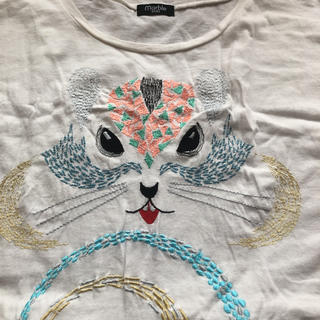 マーブル(marble)のマーブルシュッド  りす刺繍Tシャツ(Tシャツ(半袖/袖なし))