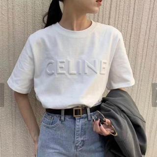 CELINE セリーヌ ロゴ tシャツ ホワイト M