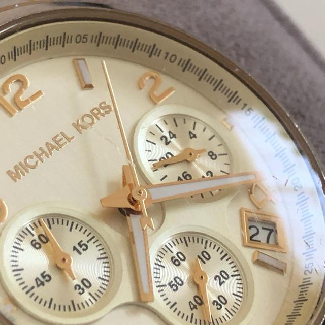 Michael Kors(マイケルコース)のマイケルコース 腕時計 べっ甲 中古品 レディースのファッション小物(腕時計)の商品写真