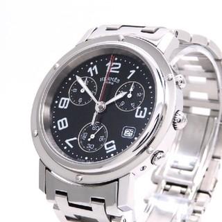 エルメス(Hermes)の【HERMES】エルメス腕時計 'クリッパー クロノグラフ' ☆新型バックル☆(腕時計(アナログ))