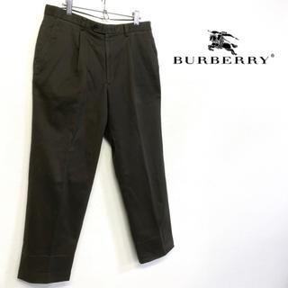 バーバリー(BURBERRY)の美品 BURBERRY チノパン チャコールグレー系 W91(チノパン)