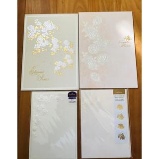 高級 バラ柄便箋セット(カード/レター/ラッピング)