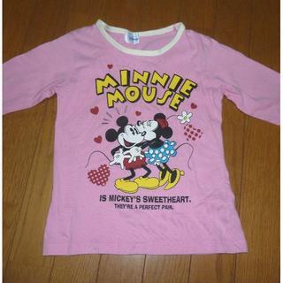 ニシマツヤ(西松屋)のディズニー ミッキー&ミニーのTシャツ(長袖) サイズ130 <d185>(Tシャツ/カットソー)
