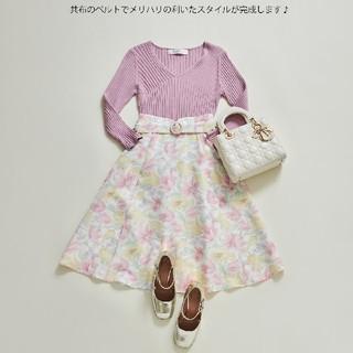 tocco - 【新品未使用】tocco closet 花柄フレアスカート