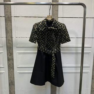 ルイヴィトン(LOUIS VUITTON)のLouis Vuitton モノグラムジャカードAラインドレス(ひざ丈ワンピース)
