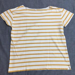 MUJI (無印良品) - サイズL/ボーダーTシャツ