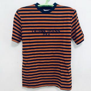ゲス(GUESS)の海外限定 正規品 新品 Guess A$AP コラボ ボーダー TEE オレンジ(Tシャツ/カットソー(半袖/袖なし))