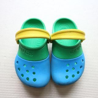 crocs - クロックス15-15.5cmバイカラー サンダル/ストラップ/男の子