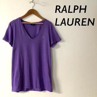 Ralph Lauren - RALPH LAUREN  SPORT Vネック Tシャツ カットソー パープル