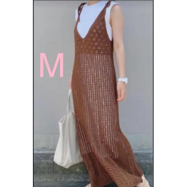 GU(ジーユー)のgu 透かし編みニットキャミソールワンピース  レディースのワンピース(ロングワンピース/マキシワンピース)の商品写真