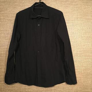 ムジルシリョウヒン(MUJI (無印良品))の無印良品 長袖シャツ 黒 ブラック (シャツ)