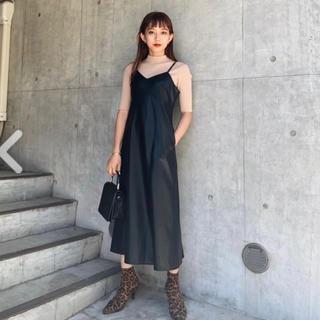 スライ(SLY)のsly leather cami op moussy murua evris(ロングワンピース/マキシワンピース)