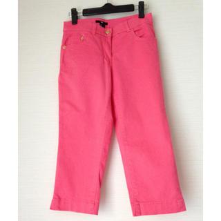 エイチアンドエム(H&M)のクロップドパンツ H&M  34  ピンク(クロップドパンツ)