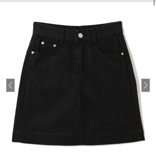 GRL - GRL 台形ミニスカート 黒色 Sサイズ
