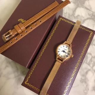 ヴィーダプラス(VIDA+)の腕時計★未使用 替ベルト付 ヴィーダプラス VIDA+ ピンクゴールド ドーム(腕時計)