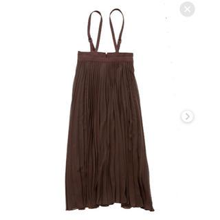 ココディール(COCO DEAL)のCOCO DEAL サスペンダー付きプリーツスカート(ロングスカート)
