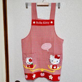 サンリオ(サンリオ)のキティちゃん エプロン(収納/キッチン雑貨)