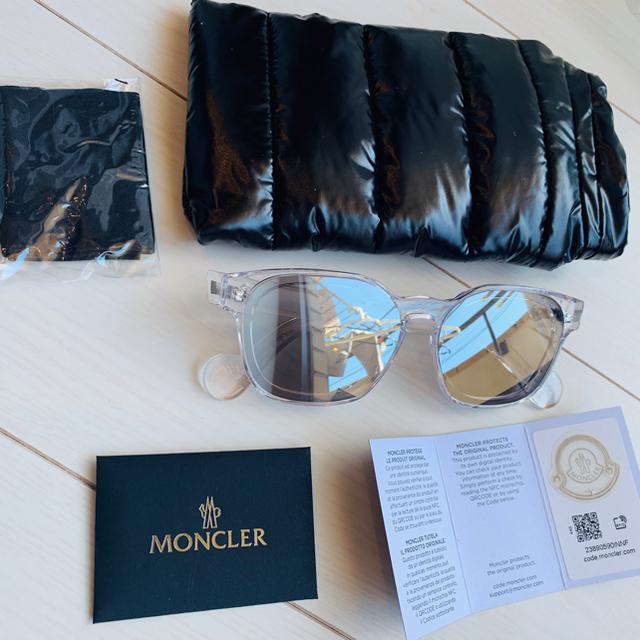MONCLER(モンクレール)のレアモンクレールMONCLER モンクレールミラーサングラスメガネ メンズのファッション小物(サングラス/メガネ)の商品写真