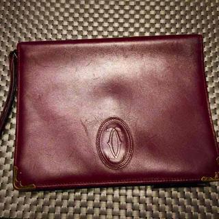 カルティエ(Cartier)のカルティエ セカンドバック ボルドー(ビジネスバッグ)
