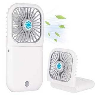 白【2020年最新改良モデル】手持ち扇風機 充電式 「4in1機能搭載」ハンディ(扇風機)