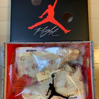 ナイキ(NIKE)のOff-White  Nike Air Jordan 4 SAIL 25.5㎝(スニーカー)