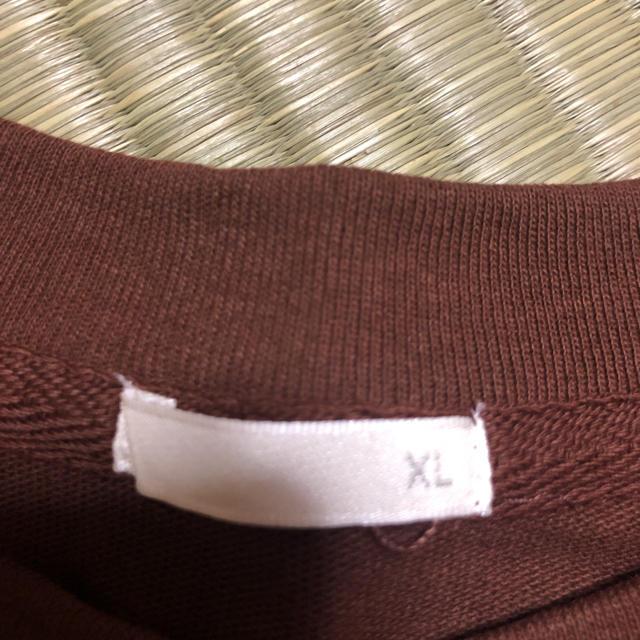 GU(ジーユー)の新品  XL   ジーユー GU  カットソー Tシャツ ブラウンTシャツ レディースのトップス(Tシャツ(半袖/袖なし))の商品写真