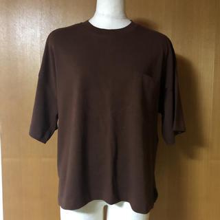 GU - 新品  XL   ジーユー GU  カットソー Tシャツ ブラウンTシャツ
