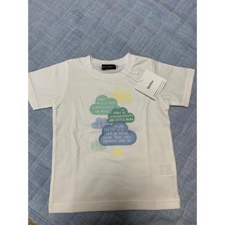 ベベ(BeBe)の新品タグ付き べべ 白色Tシャツ 100(Tシャツ/カットソー)