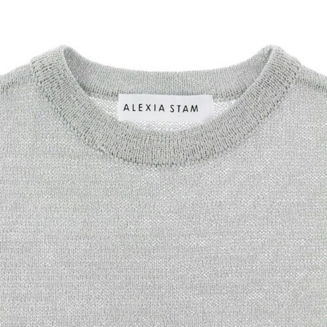 ALEXIA STAM(アリシアスタン)の【美品】定価¥11880 ALEXIASTAM スリットロングワンピース グレー レディースのワンピース(ロングワンピース/マキシワンピース)の商品写真
