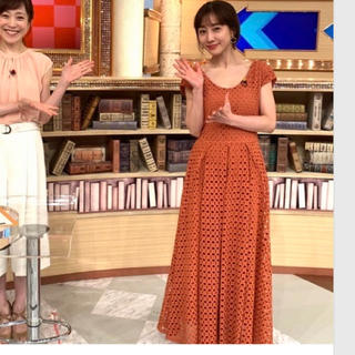 【最終お値下げ【AULA AILA】コットンレースドレス☆田中みな実さん着用☆
