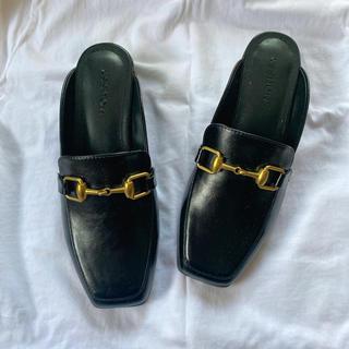 マウジー(moussy)のmoussy 新品未使用 ローファーミュール(ローファー/革靴)
