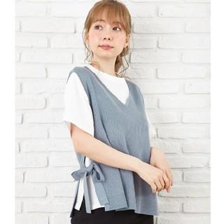 INGNI - 【新品】畦サイドリボンベスト+TシャツSET!!【イング】