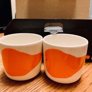 マリメッコ(marimekko)の未使用品 マリメッコ  パーリナ コーヒーカップ ハンドル無し2個セット(グラス/カップ)