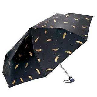 ブラックCuby 日傘 折り畳み傘 晴雨兼用 ワンタッチ 自動開閉 高強度グラス(傘)