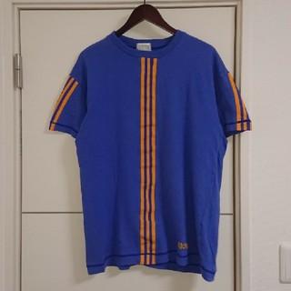 adidas - adidas アディダス Tシャツ 90s古着 デサント製 刺繍ロゴ レトロ