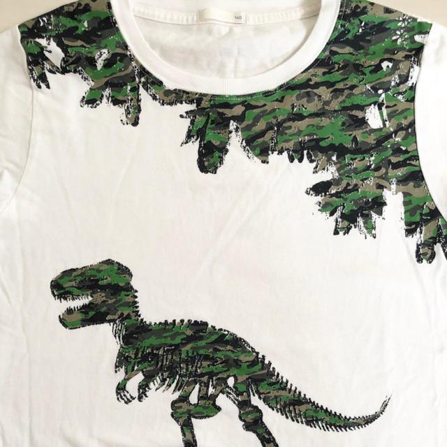 GU(ジーユー)のTシャツ 140cm キッズ/ベビー/マタニティのキッズ服男の子用(90cm~)(Tシャツ/カットソー)の商品写真