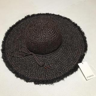 新品◆LIP SERVICE◆麦わら帽子 つば広ハット◆折り畳み ハット