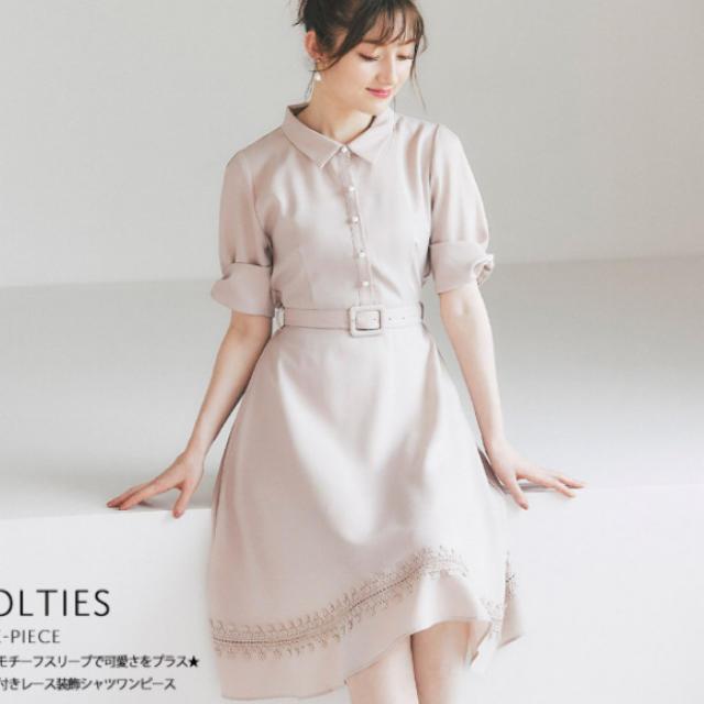 tocco(トッコ)のシャツワンピース レディースのワンピース(ひざ丈ワンピース)の商品写真