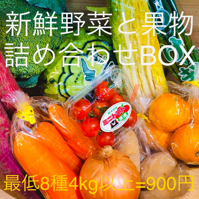 新鮮野菜詰め合わせ 果物と山盛りBOX 全国送料無料 食品/飲料/酒の食品(野菜)の商品写真