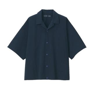 ムジルシリョウヒン(MUJI (無印良品))のMUJI Labo ネイビー シャツ【新品未使用】(シャツ)