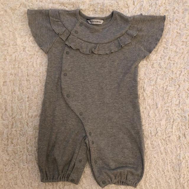 petit main(プティマイン)のUTAKATADEKO 半袖 ロンパース (50-70) キッズ/ベビー/マタニティのベビー服(~85cm)(ロンパース)の商品写真