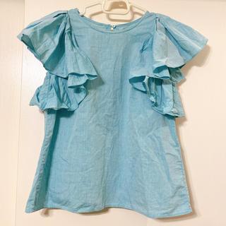 ドロシーズ(DRWCYS)の大人のおしゃれブルー♡ ドロシーズ フリルたっぷりトップス(カットソー(半袖/袖なし))