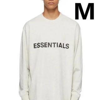 FEAR OF GOD - M / 20SS FOG ESSENTIALS Oatmeal T-Shirt