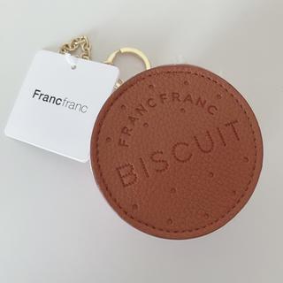 フランフラン(Francfranc)のFrancfranc◆バッグチャーム エコバッグ◆ピンク ビスケット◆新品(エコバッグ)