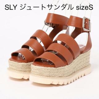 スライ(SLY)のSLY ジュートサンダル  Sサイズ 箱付き美品✨(サンダル)