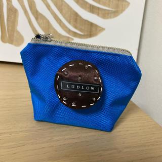 ラドロー(LUDLOW)の新品 ラドロー ポーチ ブルー クッキーがかわいいです♡(ポーチ)