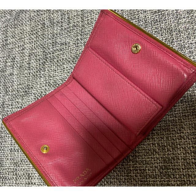 PRADA(プラダ)のPRADA正規品プラダミニザイフサフィアーノ レディースのファッション小物(財布)の商品写真