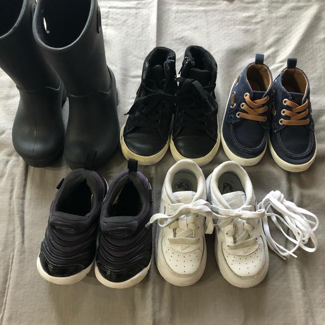 NIKE(ナイキ)のNIKE  スニーカー 13cm 14cm クロックス 長靴 まとめ売り 白 黒 キッズ/ベビー/マタニティのベビー靴/シューズ(~14cm)(スニーカー)の商品写真